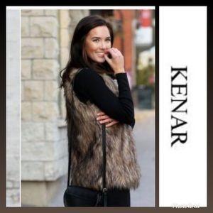 Faux Fur Statement Vest by KENAR